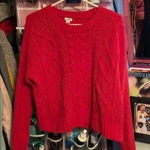 Garage red cozy sweater